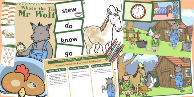 Lesson Plan Pack to Support Teaching on What's The Time, Mr Wolf? - plan, pack