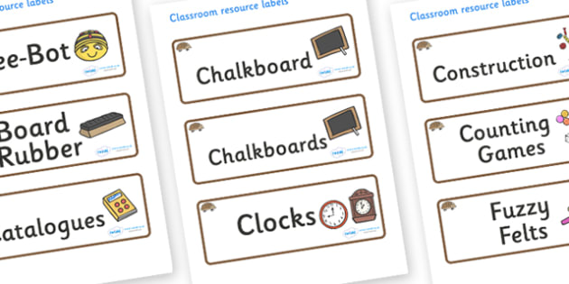 Hedgehog Themed Editable Additional Classroom Resource Labels - Themed Label template, Resource Label, Name Labels, Editable Labels, Drawer Labels, KS1 Labels, Foundation Labels, Foundation Stage Labels, Teaching Labels, Resource Labels, Tray Labels,