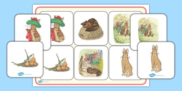 Beatrix Potter - The Tale of Benjamin Bunny Matching Mat - beatrix potter, benjamin bunny