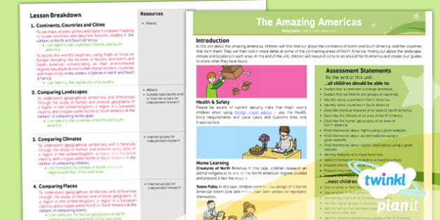 PlanIt - Geography Year 6 - The Amazing Americas Planning Overview - planit, geography, year 6, amazing americas, planning, overview