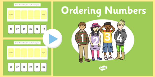 Ordering 2 Digit Numbers PowerPoint - ordering, 2 digit, numbers