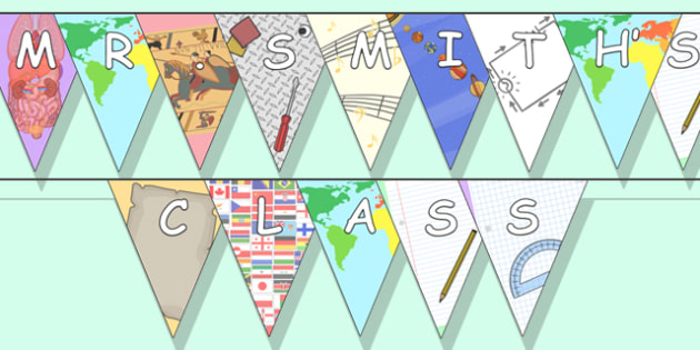 Editable Bunting Subject Themed - subject bunting, editable subject bunting, subject themed bunting, school subjects bunting, editable topics bunting