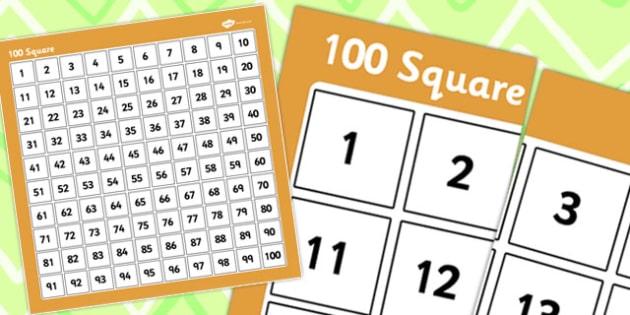 Giant 100 Square 100cm by 100cm - 100 square, cm, square, 100