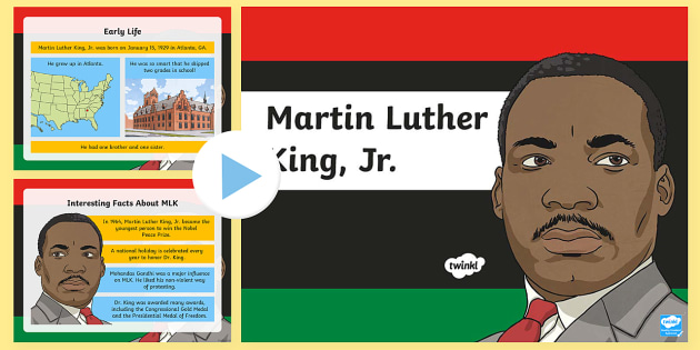 Martin Luther King, Jr. PowerPoint - Martin Luther King, Jr. , Black History, Civil Rights, segregation, discrimination, Montgomery bus,