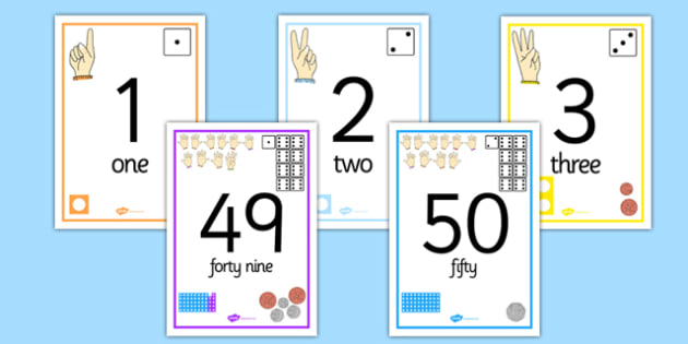Visual Number Line Posters 0-50 - visual, number line, posters, display, 0-50, numberline