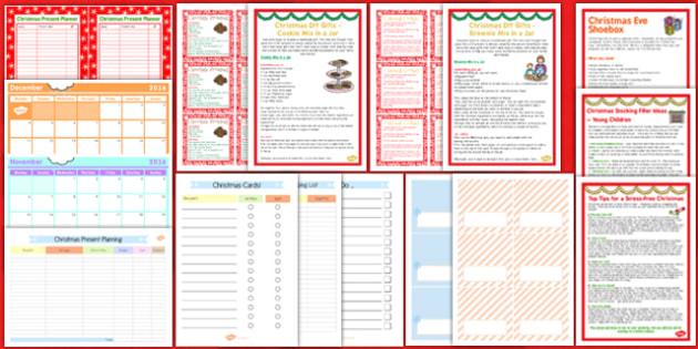 Christmas Home Planning Pack - christmas, home planning, pack, home, planning