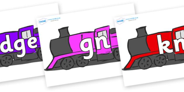 Silent Letters on Trains - Silent Letters, silent letter, letter blend, consonant, consonants, digraph, trigraph, A-Z letters, literacy, alphabet, letters, alternative sounds
