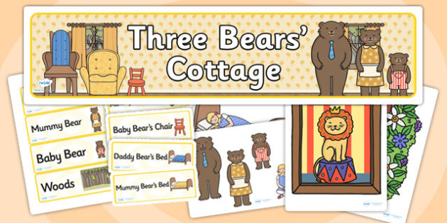 Three Bears Cottage Role Play Pack-three bears cottage, role play, three bears cottage pack, role play pack, role play materials, activities