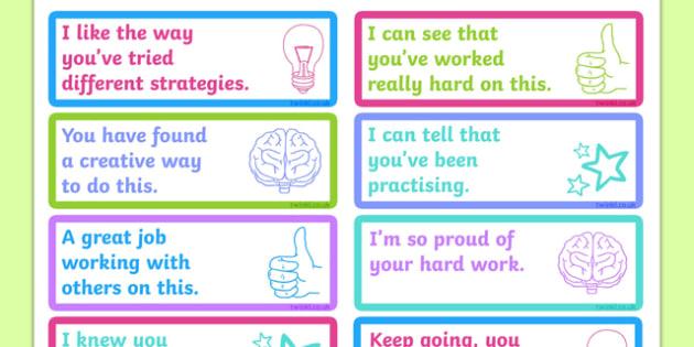 Growth Mindset Feedback Stickers-Australia