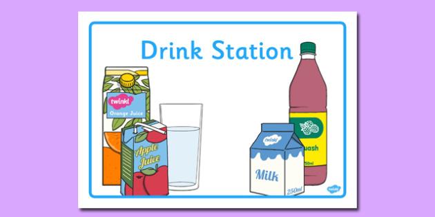Drink Station Display Poster - drink station, display poster, drink, station, display, poster