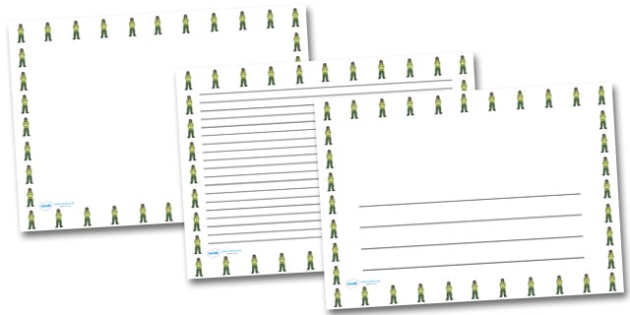 Female Paramedic Landscape Page Borders- Landscape Page Borders - Page border, border, writing template, writing aid, writing frame, a4 border, template, templates, landscape