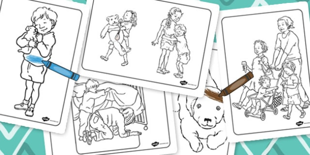 Pirate Colouring Sheets Twinkl : Words colouring sheet to support teaching on dogger