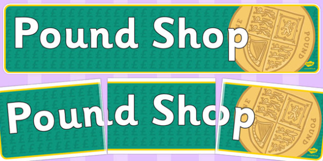 Pound Shop Role Play Banner - pound shop, role-play, banner