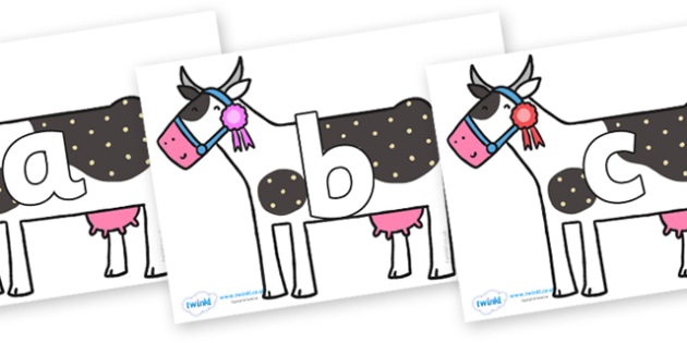 Phoneme Set on Cow to Support Teaching on What the Ladybird Heard - Phoneme set, phonemes, phoneme, Letters and Sounds, DfES, display, Phase 1, Phase 2, Phase 3, Phase 5, Foundation, Literacy