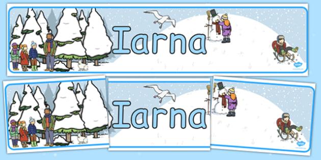 Banner imprimabil, Iarna , Romanian