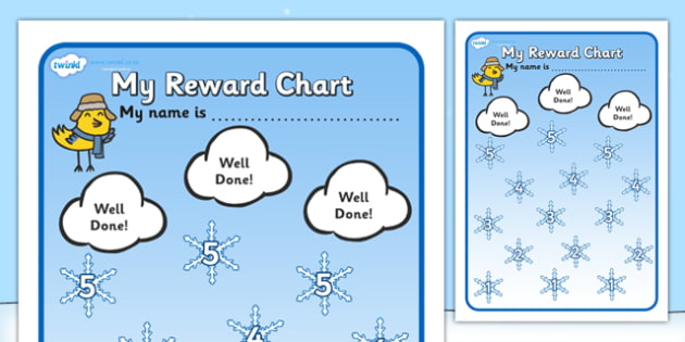 Sticker Reward Charts, Reward Chart, Sticker Chart - Page 1