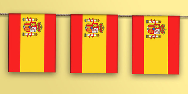 Spain Flag Bunting - spanish, flags, europe, world, countries, global, display, bunting, hang, olympics, rio