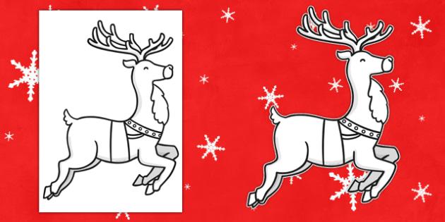 Blank Reindeer Cut Outs - reindeer, cut outs, christmas, blank