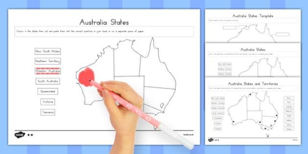 Australian States and Territories Activity - australia, states, territories