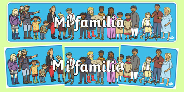 mi familia Display Banner Spanish - spanish, my family, display banner, display, banner, family