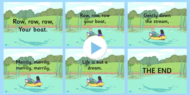 Row Row Row Your Boat Nursery Rhyme PowerPoint - powerpoints