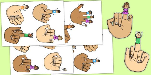 Tommy Thumb Cut Outs - tommy thumb, cut outs, display, activity