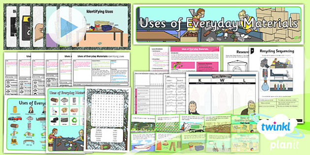 PlanIt - Science Year 2 - Uses of Everyday Materials Unit Pack