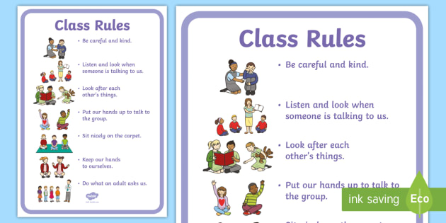Foundation Phase Class Rules Display Poster - back to school, new year, transition, class rules, new rules,Welsh