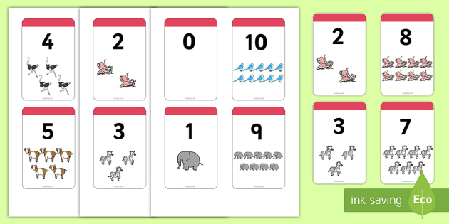 Number Bonds to 10 Matching Cards (Animals) -  Number Bonds, Matching Cards, Animal Cards, Number Bonds to 10