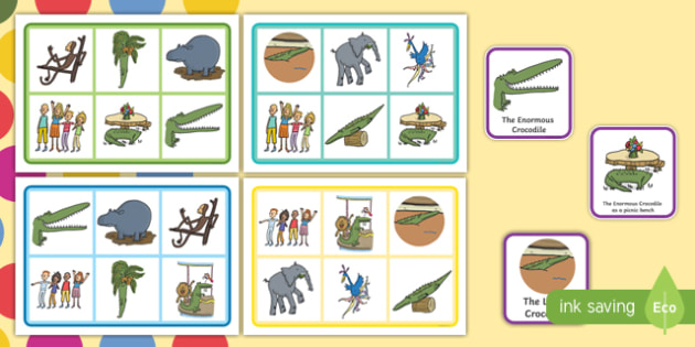 Matching Game to Support Teaching on The Enormous Crocodile