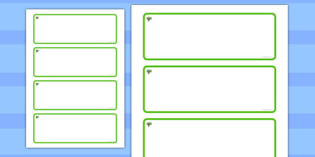 Elm Tree Themed Editable Drawer-Peg-Name Labels (Blank) - Themed Classroom Label Templates, Resource Labels, Name Labels, Editable Labels, Drawer Labels, Coat Peg Labels, Peg Label, KS1 Labels, Foundation Labels, Foundation Stage Labels, Teaching Lab