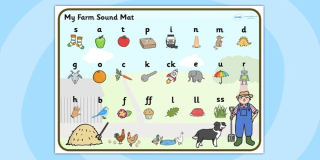 Farm Themed Phase 2 Sound Mat - farm, phase two, sound mat, mat