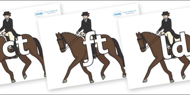 Final Letter Blends on Equestrian (Horses) - Final Letters, final letter, letter blend, letter blends, consonant, consonants, digraph, trigraph, literacy, alphabet, letters, foundation stage literacy