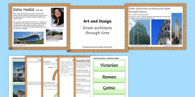 KS2 Art Great Architects Through Time Lesson Teaching Pack - art