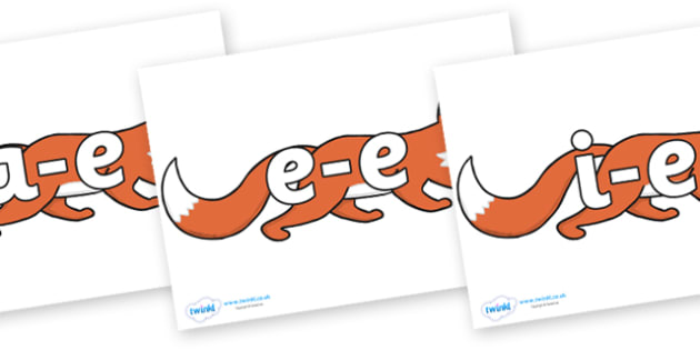 Modifying E Letters on Hullabaloo Fox to Support Teaching on Farmyard Hullabaloo - Modifying E, letters, modify, Phase 5, Phase five, alternative spellings for phonemes, DfES letters and Sounds
