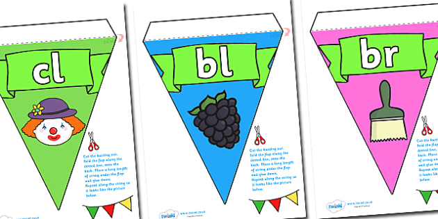 Phase 4 Display Bunting - phase 4, phase four, bunting, themed bunting, display bunting, display, bunting flags, flag bunting, cut bunting, paper bunting