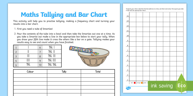 Smartie Maths Tallying And Bar Chart Activity Sheet  Activity