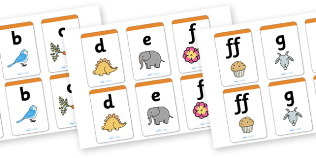 Phase 2 Matching Cards - Matching Card, Phonemes, Phase 2, Phase two, Mnemonic cards, DfES Letters and Sounds, Letters and sounds, Letter flashcards