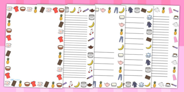 Fairtrade Page Borders - food, fair trade, writing templates