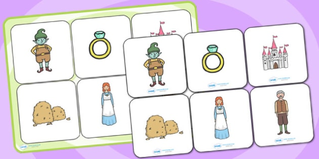 Rumpelstiltskin Matching Cards and Board - rumpelstiltskin, rumpelstiltskin matching cards, rumpelstiltskin picture matching game, traditional tales, sen