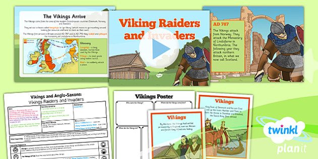 History: Vikings and Anglo-Saxons: Viking Raiders and Invaders LKS2 Lesson Pack 1