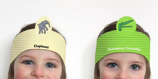 Role Play Headbands to Support Teaching on The Enormous Crocodile - stories, roleplay