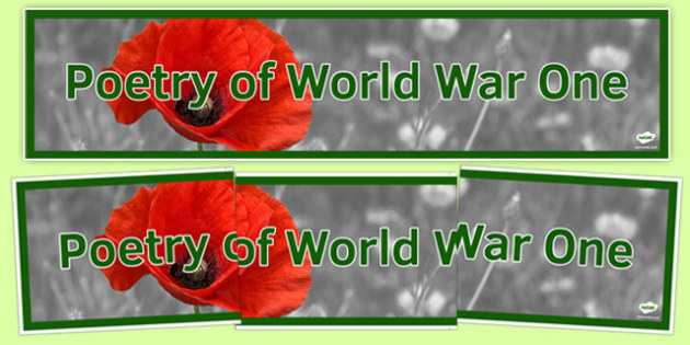 Poetry of World War One Display Banner Alternative - poetry, world war one, display banner, display