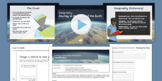 Journey to the Centre of the Earth Lesson Pack
