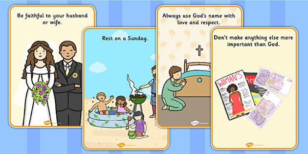 The 10 Commandments Display Posters - poster, displays, visual