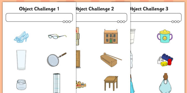 Object Challenge Activity Sheet - object, challenge, activity, sheet, worksheet