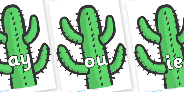 Phase 5 Phonemes on Cactus - Phonemes, phoneme, Phase 5, Phase five, Foundation, Literacy, Letters and Sounds, DfES, display
