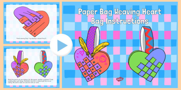 Paper Bag Weaving Instructions PowerPoint Craft Instructions Pack - paper bag, weaving, instructions, craft
