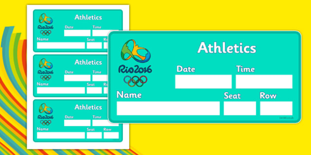 The Olympics Athletics Role Play Event Tickets - Olympics, Olympic Games, sports, Olympic, London, 2012, event, ticket, event tickets, entry, stadium,  Olympic torch, flag, countries, medal, Olympic Rings, mascots, flame, compete, athletics, race, ru