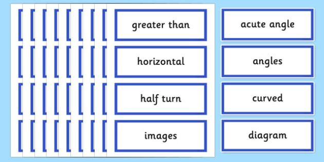 Year 3 2014 Curriculum Maths Geometry Properties of Shapes Vocab